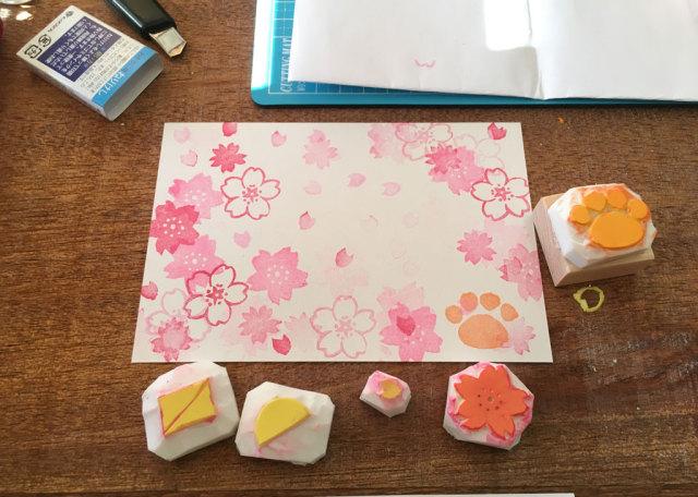 桜はんこ教室 nenem カード